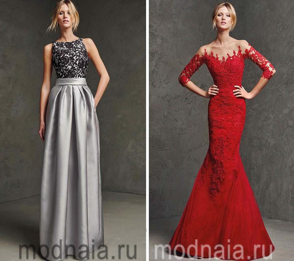 Яркие платья в пол