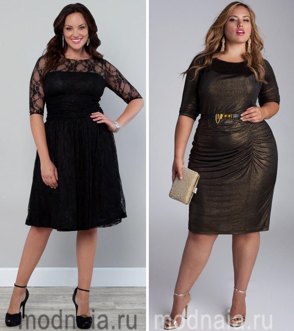 Какими могут быть вечерние платья для полных
