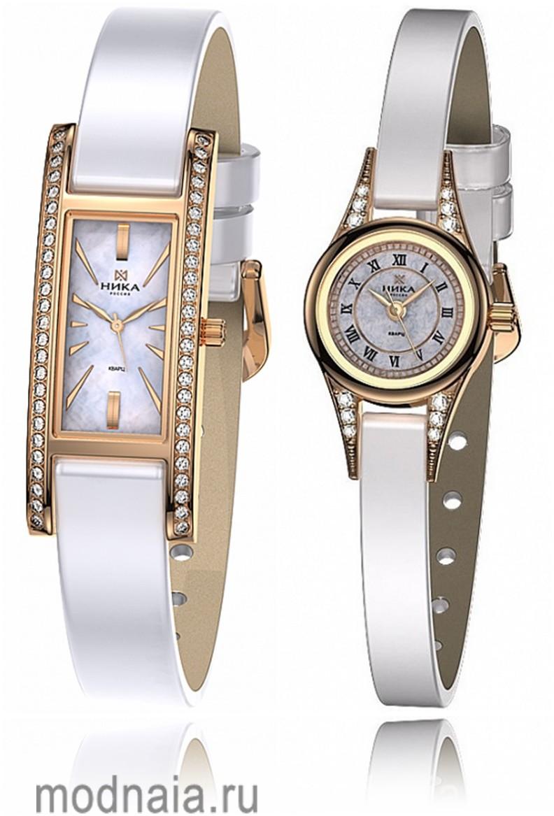Золотые женские часы «Ника»