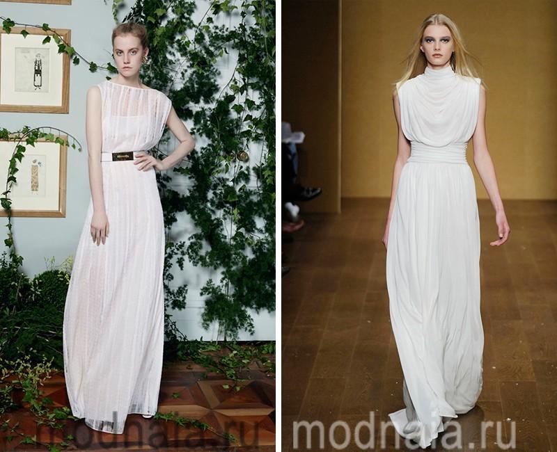 белое вечернее платье в пол