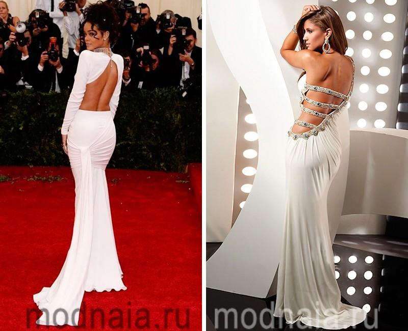 белое вечерне платье