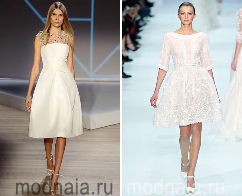 Белые вечерние платья 2016: короткие, длинные, для свадьбы и повседневные модели