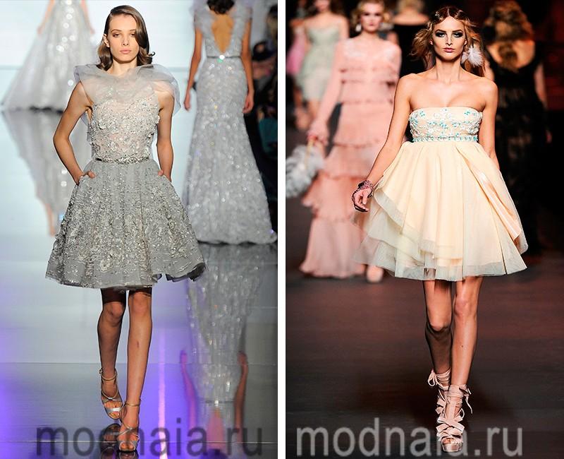 Красивые модельные платье