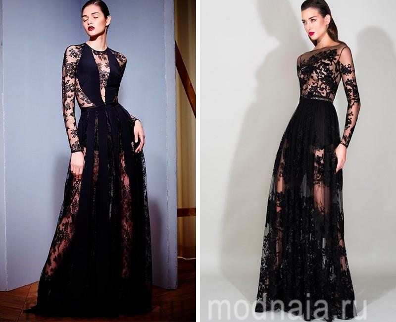 Самые трендовые модели вечерних платьев с рукавом в 2016 году