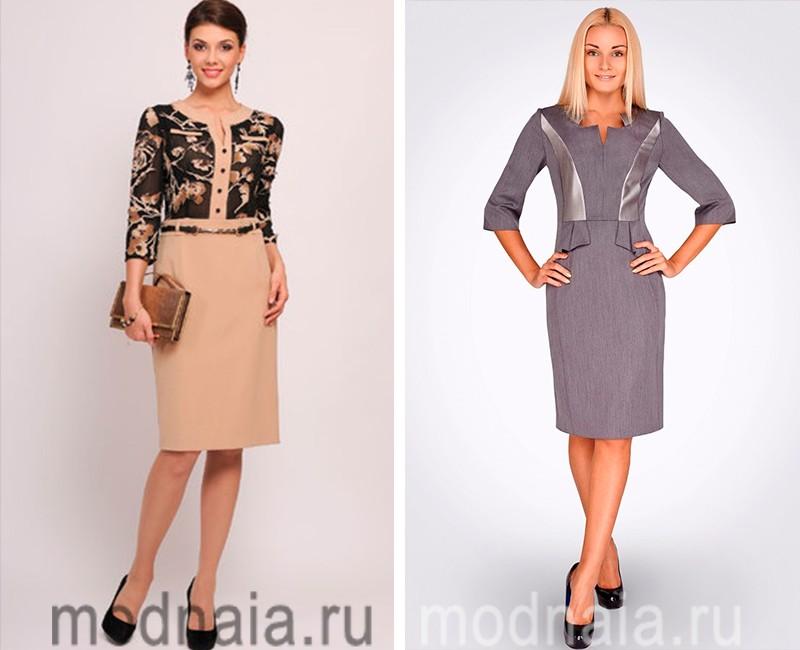 Стильные модные платья для женщин за 50