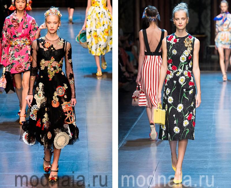 модные платья весна лето 2016 года фото