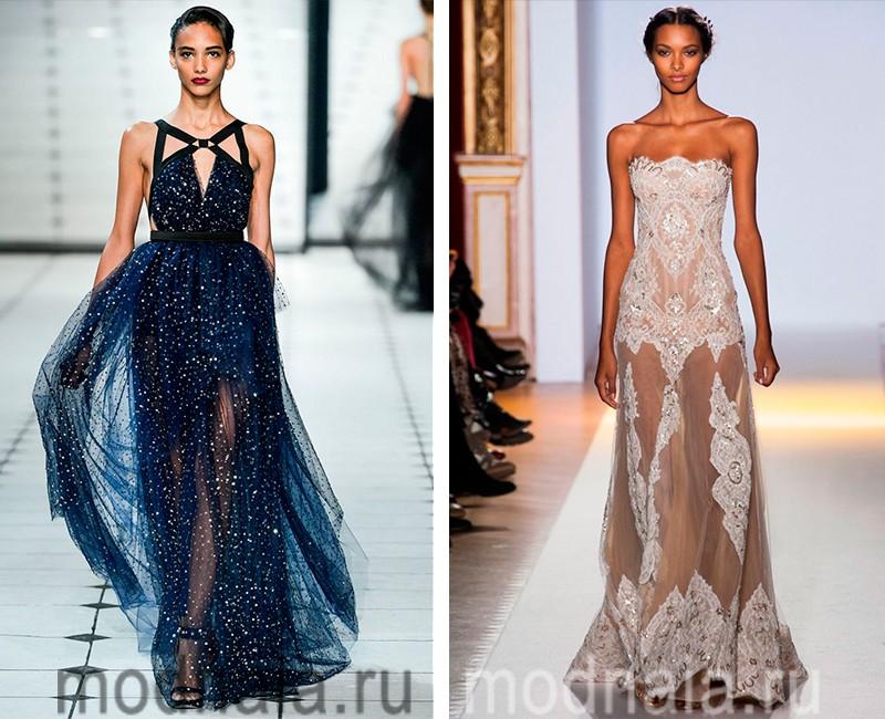 модные вечерние платья