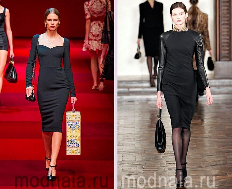 Как носить черное платье-футляр: фото модного образа