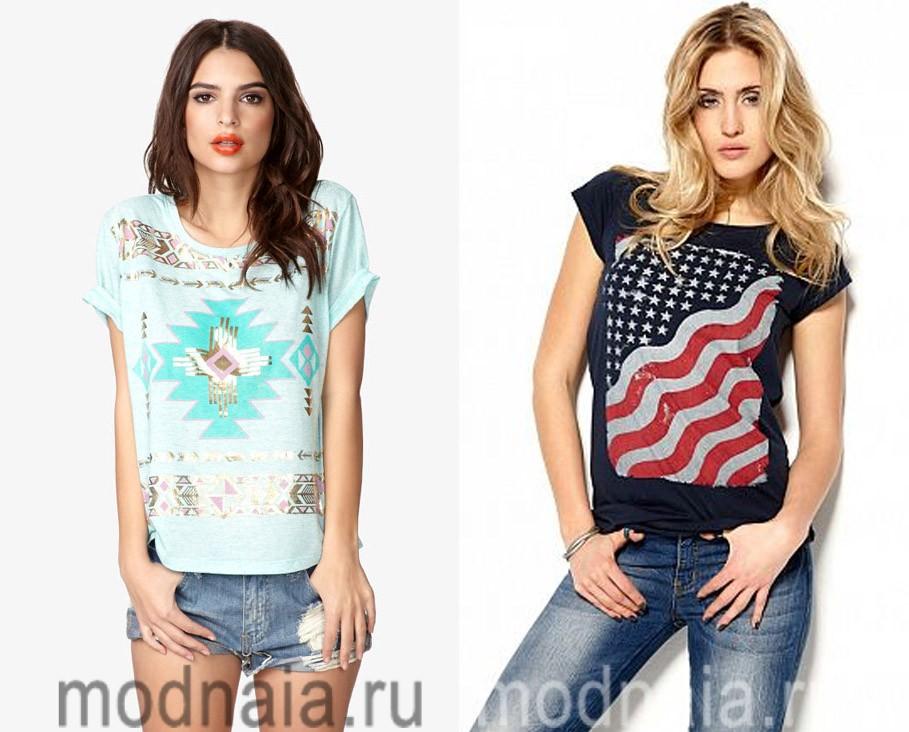 С чем лучше всего сочетать футболки с принтами?