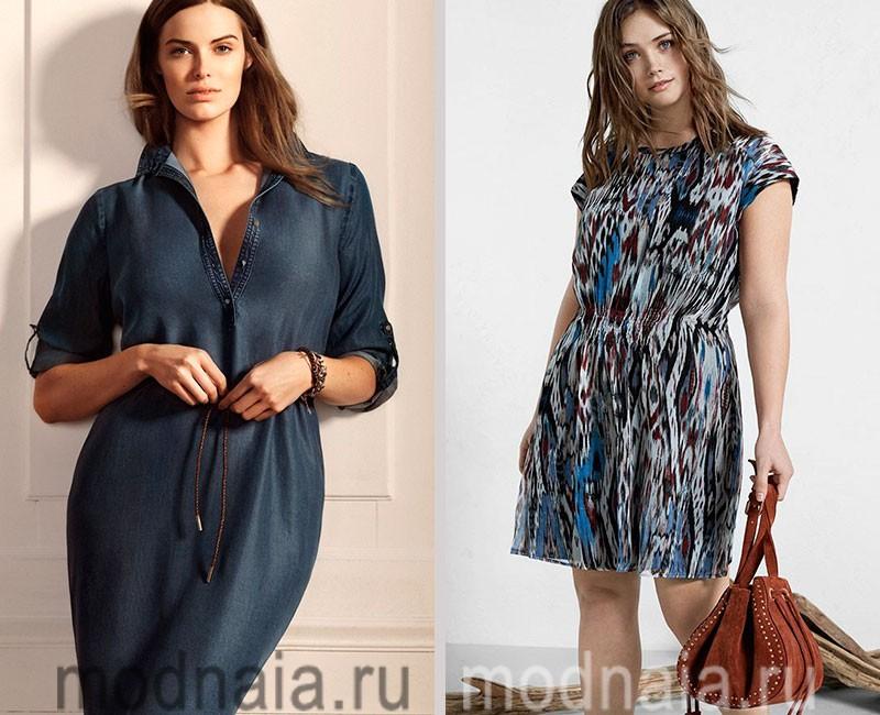 Модные платья для полных, коллекция Violeta by Mango