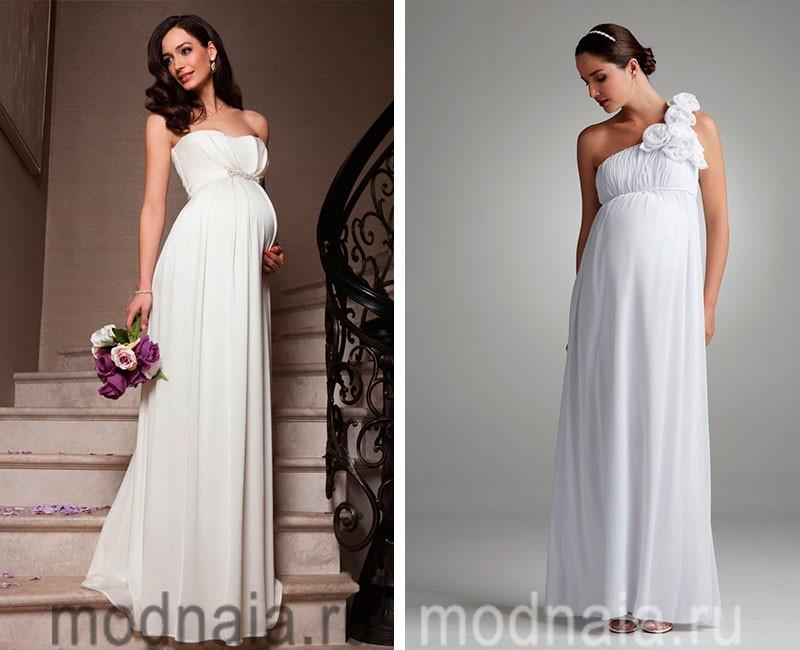 Платья свадебные для беременных 2014 13