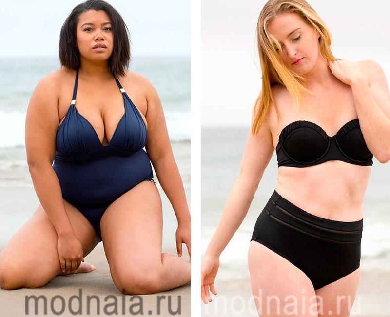 купальники больших размеров для полных женщин