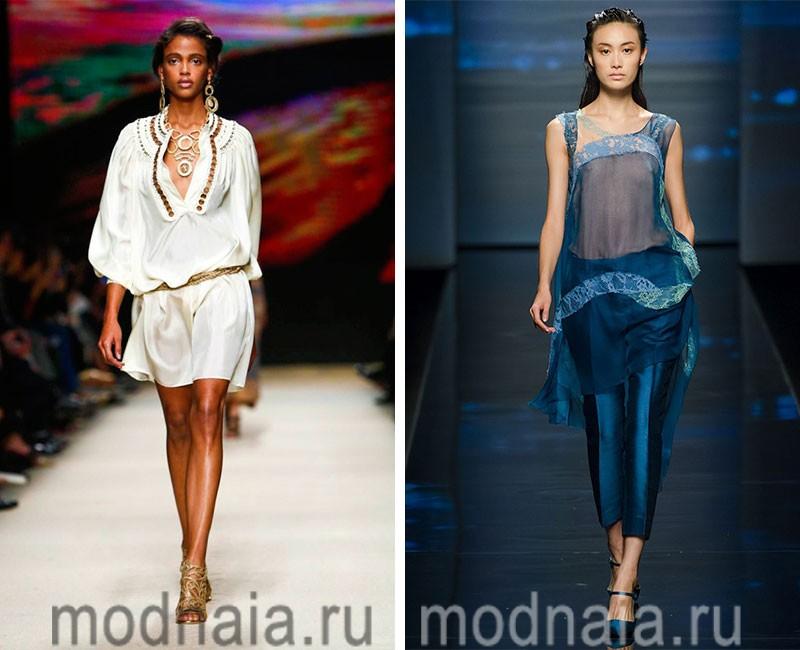 Модные туники 2016 года – потрясающее разнообразие стилей