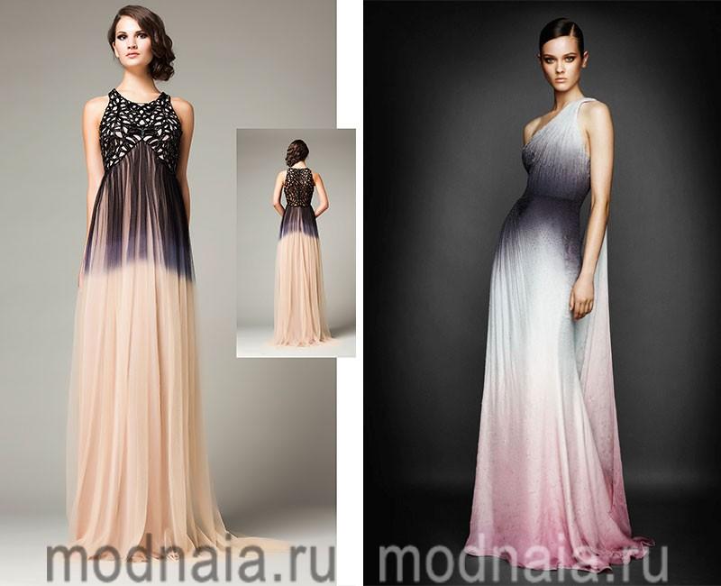 вечерние платья осень 2016