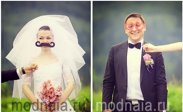 Интересные идеи для свадебного фотосета