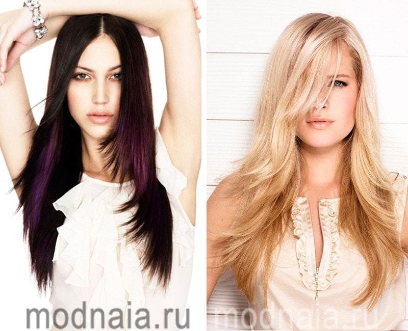 модные стрижки на длинные волосы 2017