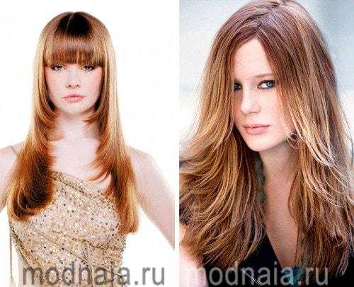 Модные стрижки от длинных волос