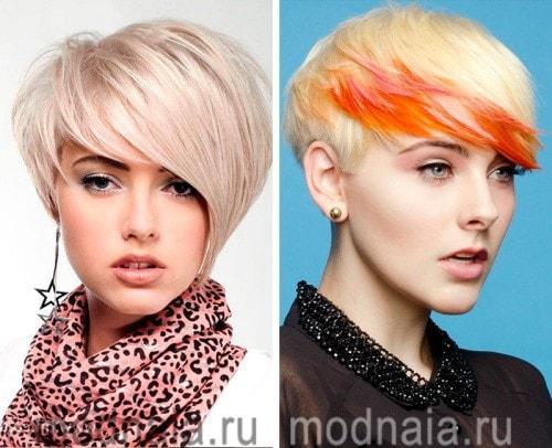 Необычные стрижки на средние волосы 2017 женские