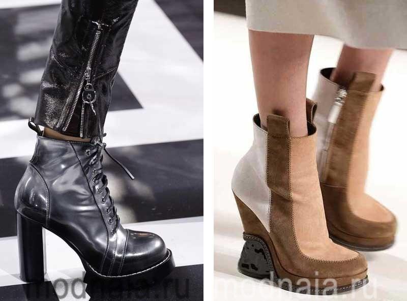 обувь 2016 2017 года модные тенденции фото