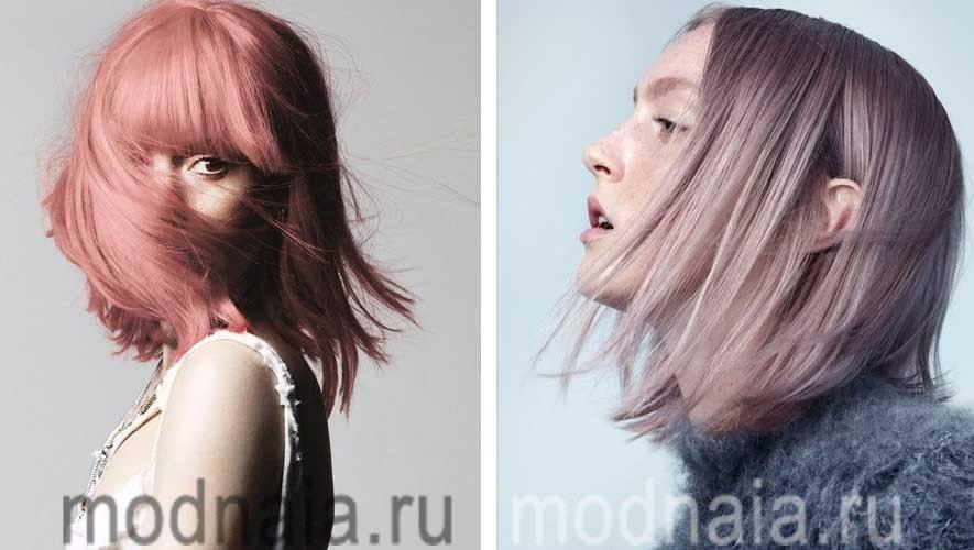Модные стрижки и цвет волос 2017 с ассиметрией