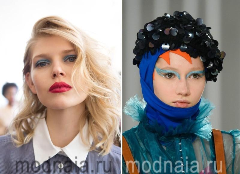 Модные тендендии в макияже 2017 - яркие тени