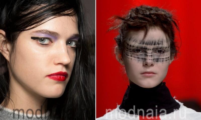 Оригинальная графика в макияже 2017