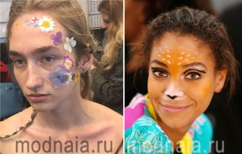 Модный макияж 2017 с элементами боди-арта