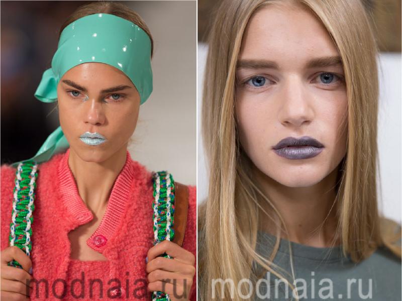 Модный макияж весна-лето 2017 в стиле хиппи и панк