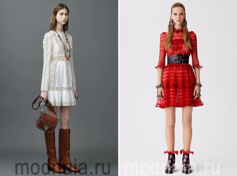 Модные короткие платья 2017 из кружева