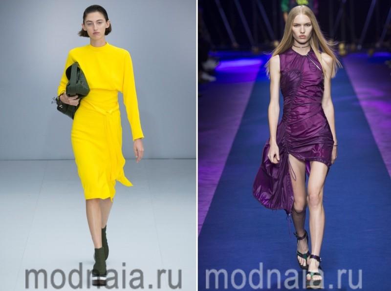 Яркие модные платья 2017