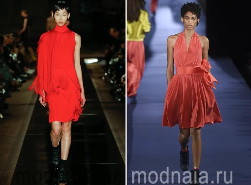 Красные короткие платья 2017 20