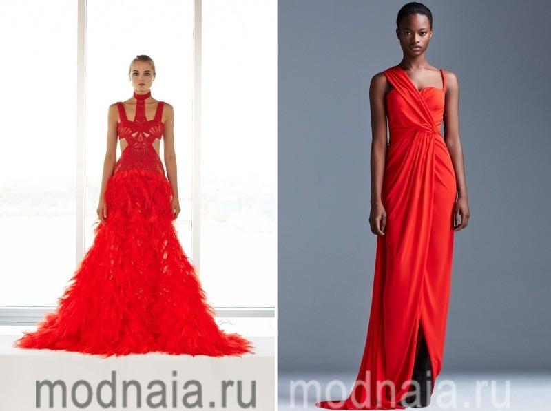 Роскошные платья 2017 красного цвета