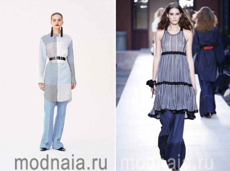 Платье с брюками новинки сезона весна лето 2017