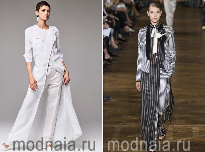 Деловой лук: платье плюс брюки