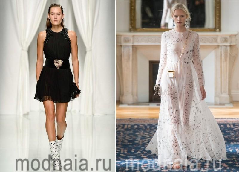 Модные платья 2017 в черно-белой гамме