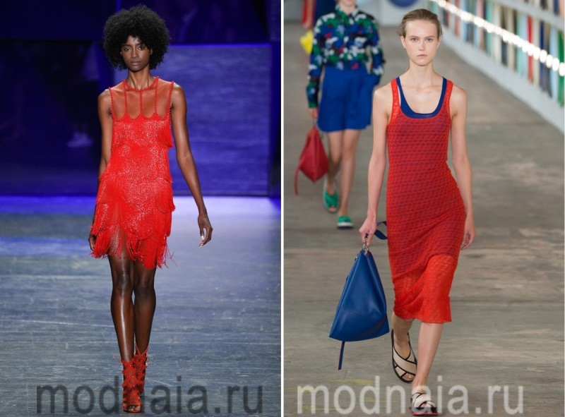 Красные платья 2017