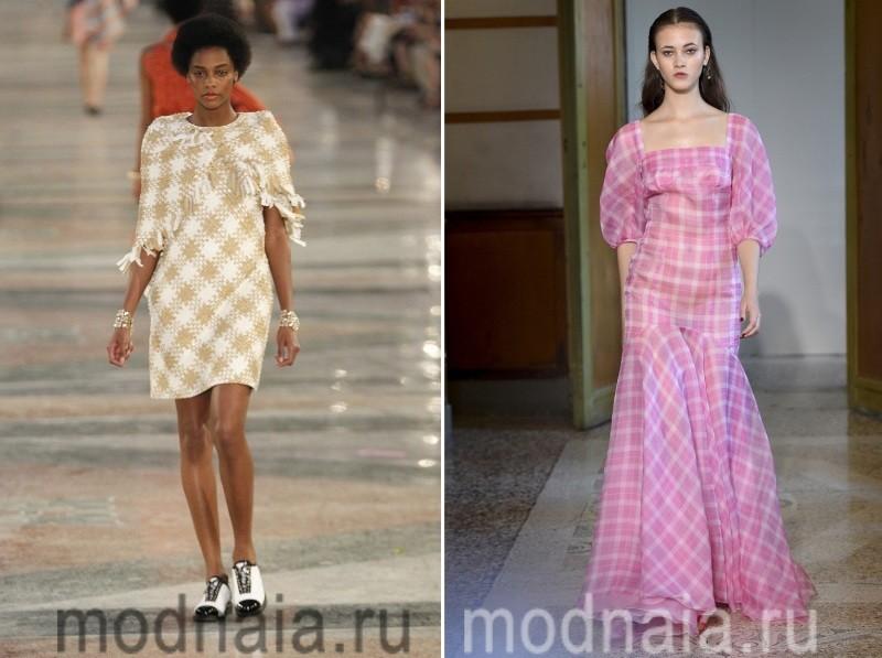 Стильные платья в клетку новинки 2017 года