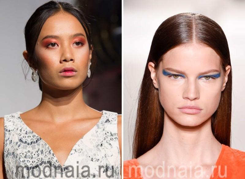 Модный макияж 2017 - яркие тени