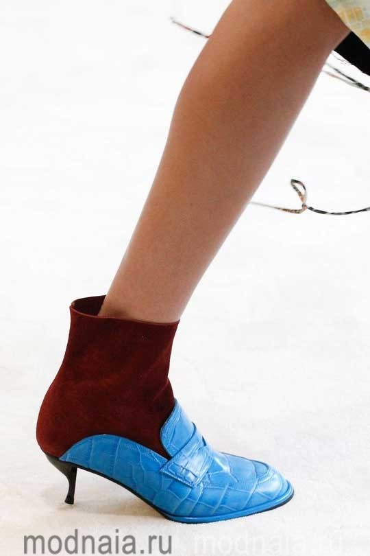 модная обувь осень 2017 двуцветная