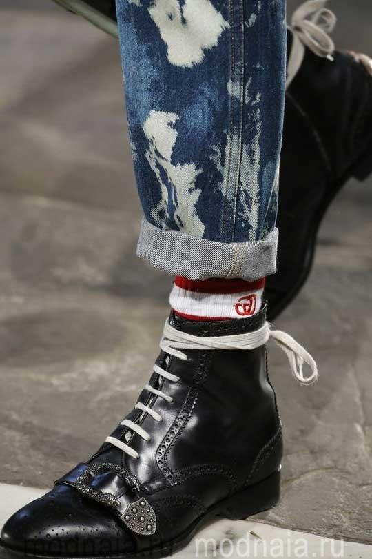 Модная обувь осень 2017 фасоны на плоской подошве