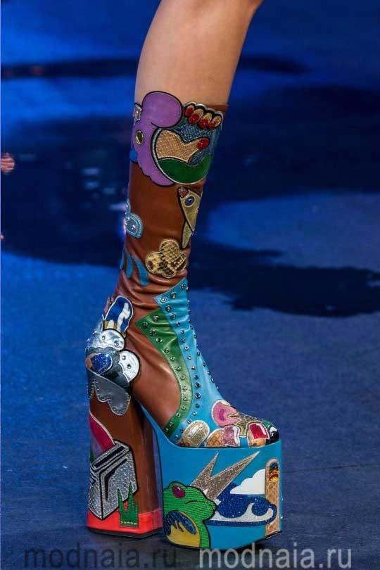 Обувь осень 2017, модные тенденции, фото на платформе