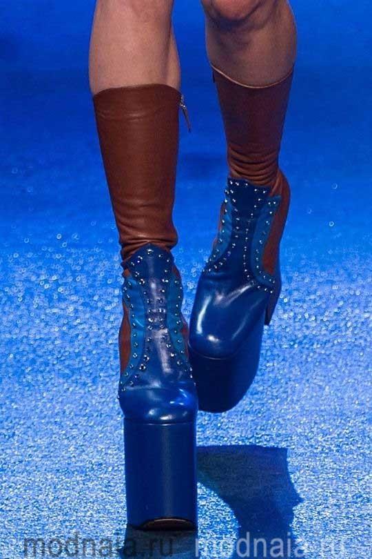 Обувь осень 2017, модные тренды на фото
