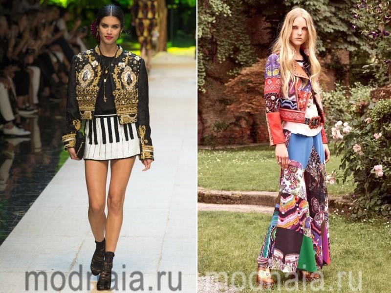 Кожаные женские куртки весна 2017 с вышивкой