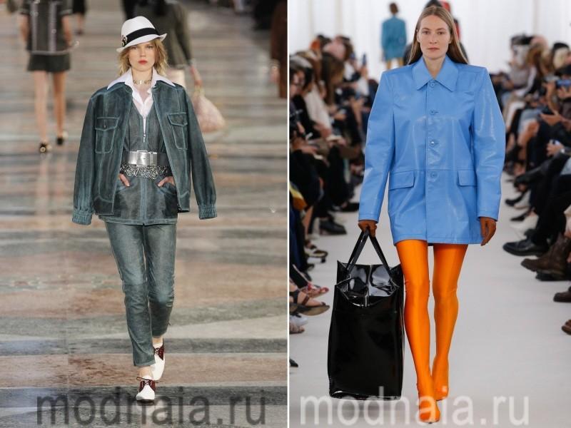 Модные кожаные куртки весна 2017