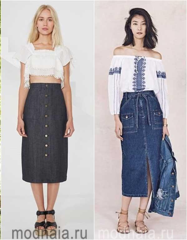 модные-джинсовые-юбки-2017-2