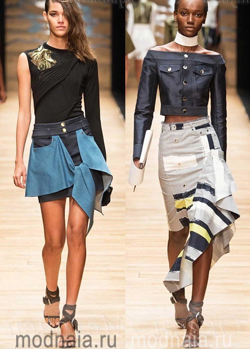 Джинсовые юбки 2017 года ТОП-5 модных тенденций и фото
