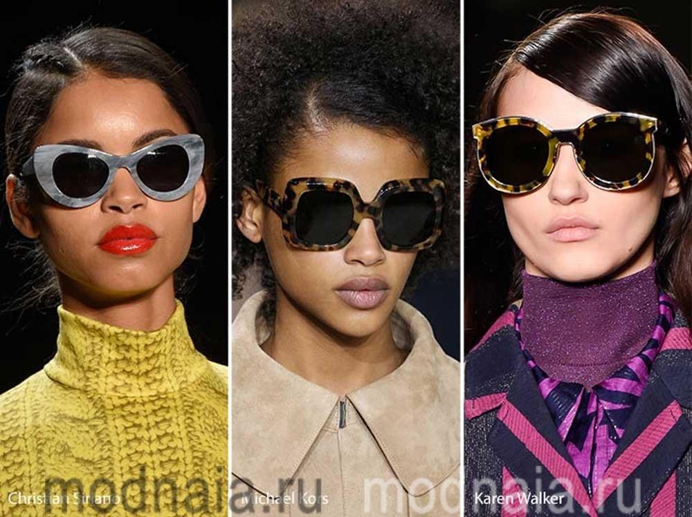 модные очки 2017 принты