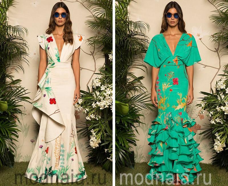 модные платья весна лето 2017 года фото