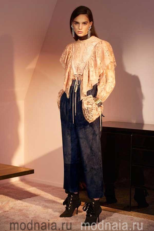 модные-тенденции-блузок-весна-лето-2017-года-Lanvin-lace