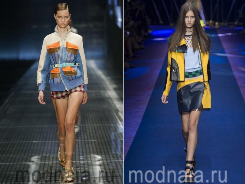 Комбинированные женские куртки весна 2017